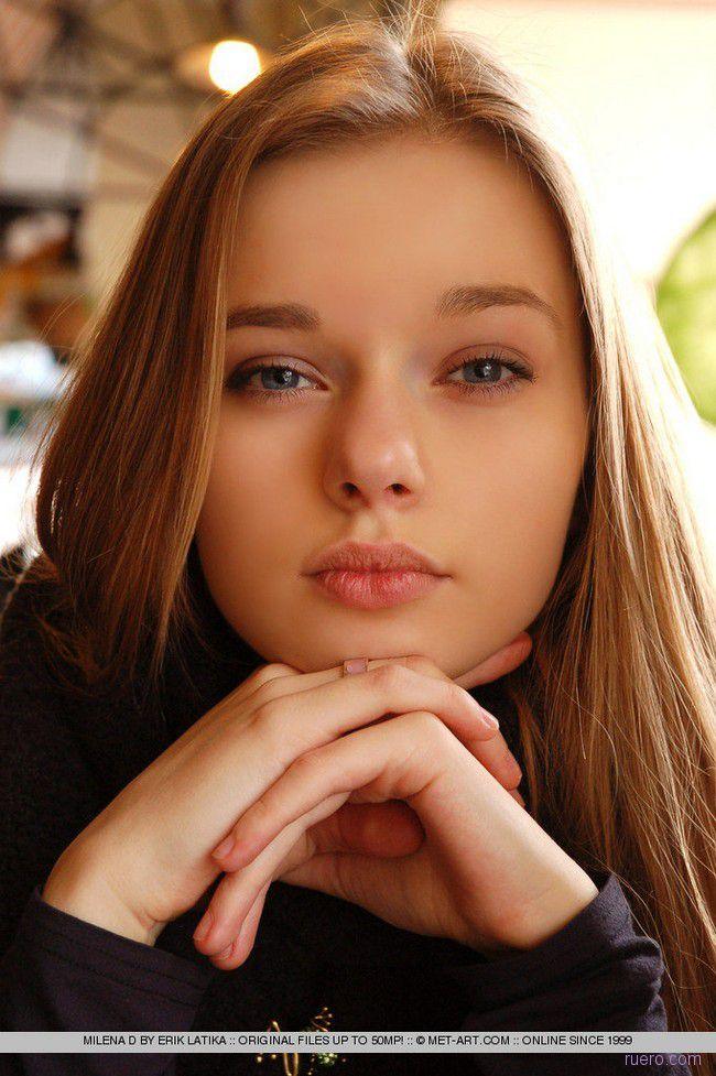 Milena D : милая натуральность