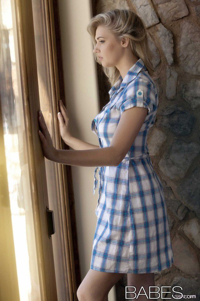 Alexa Johnson : платье в синюю клеточку