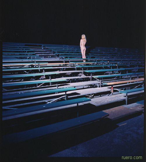 На ночном стадионе