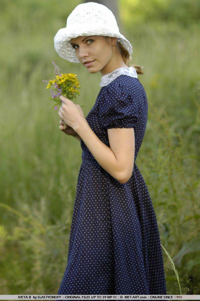 Iveta : в летнем платье